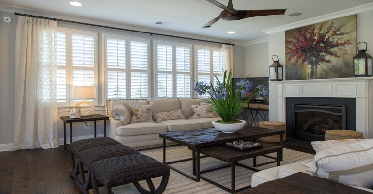 Interior Shutters in San Diego Living Room