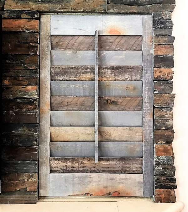 San Diego reclaimed wood shutter