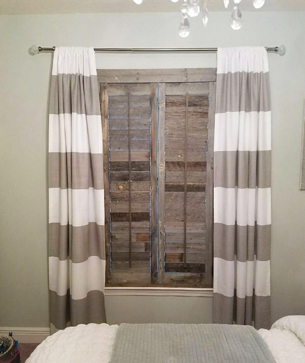 San Diego reclaimed wood shutter bedroom