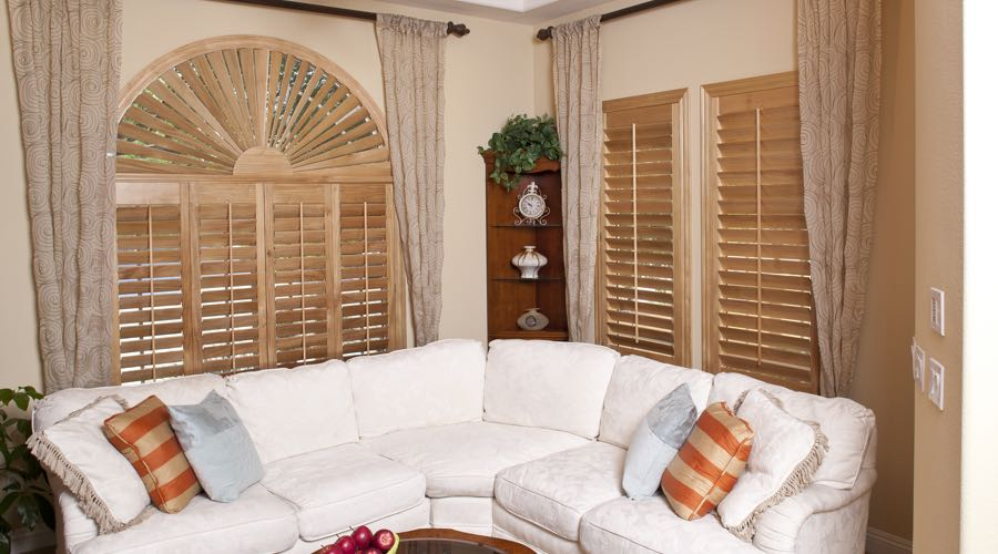 Ovation Wood Shutters In San Diego Living Room