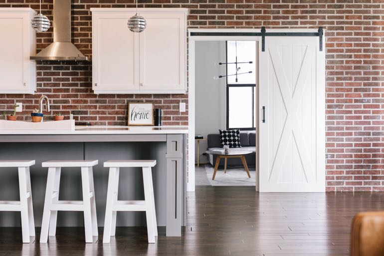 San Diego modern kitchen barn door