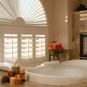 San Diego bathroom privacy shutters.