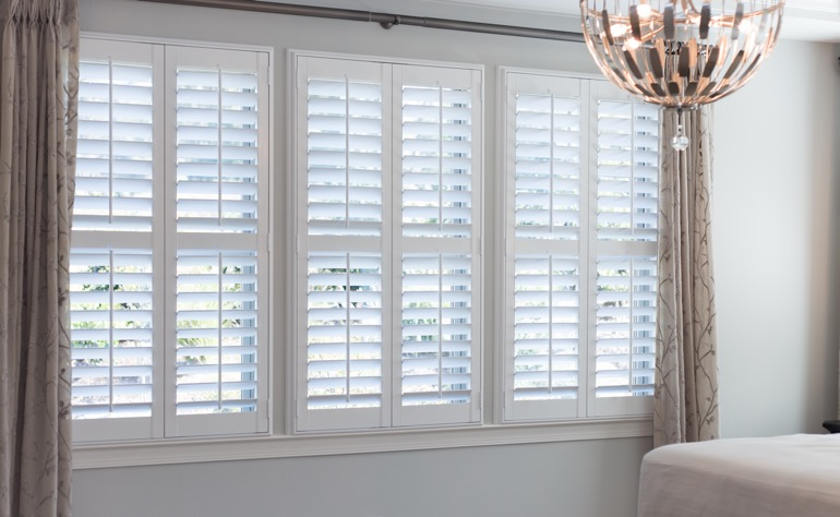 San Diego plantation shutters master bedroom