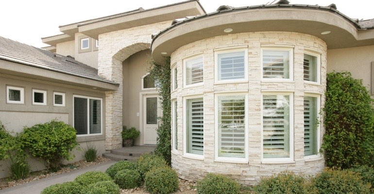 Exterior shutters San Diego home