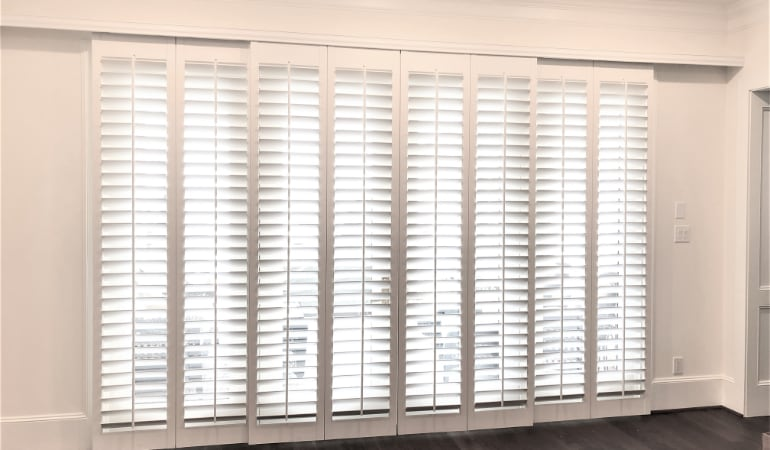 Plantation Shutters The Top Patio Door Window Treatment In San Diego Sunburst Shutters