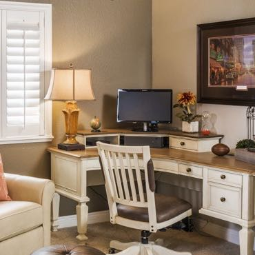 San Diego home office interior shutters.