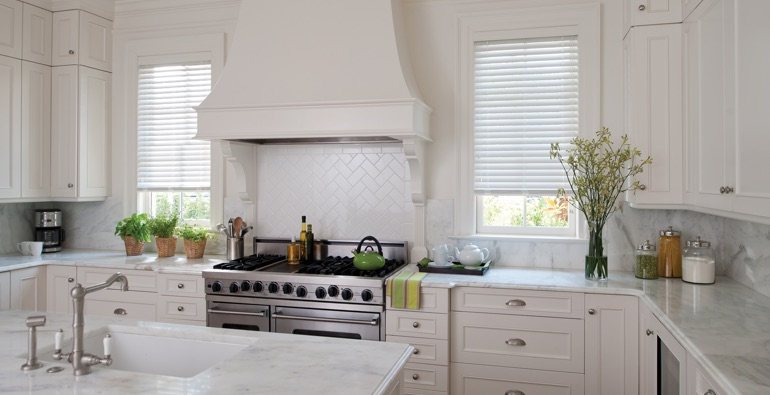 San Diego white faux wood blinds