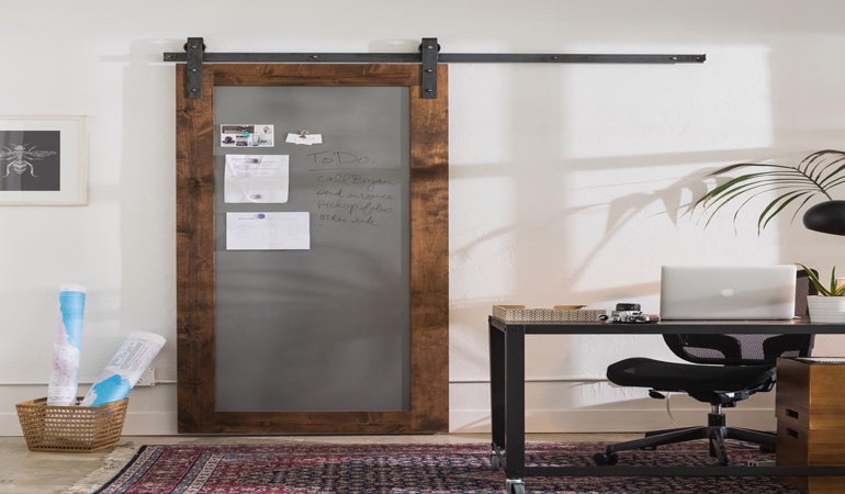 San Diego home office barn door