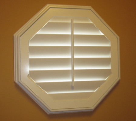 San Diego octagon window with white shutter