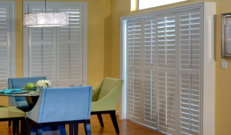 Patio Doors with Plantation Shutters in San Diego