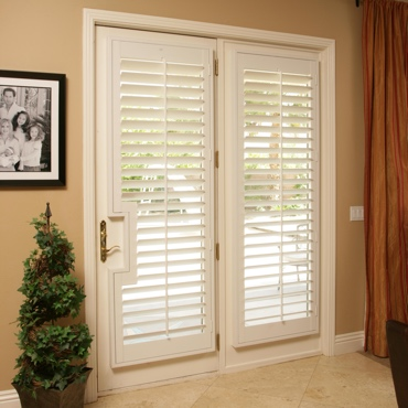Patio French Door Shutters San Diego