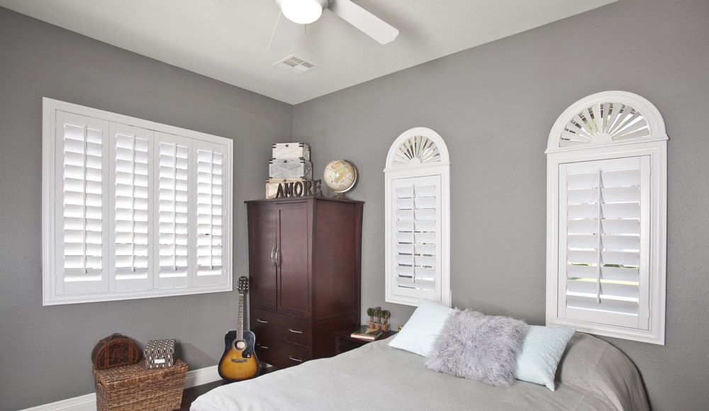 Polywood Shutters In A San Diego Bedroom