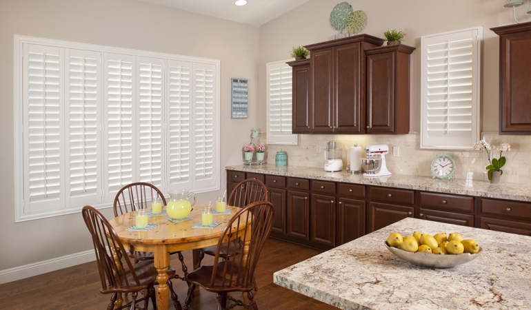 Polywood Shutters in San Diego kitchen