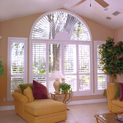 Half circle window shutter San Diego
