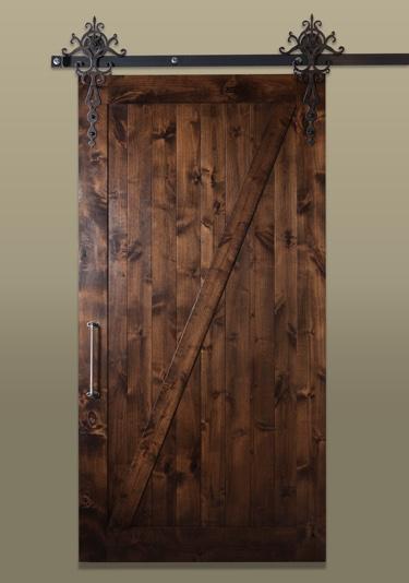 Sliding Barn Door In The Rustic Style