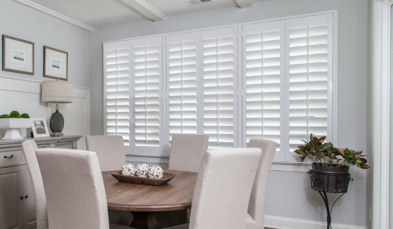 shutters in San Diego living room