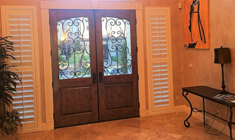 San Diego foyer door with shutters