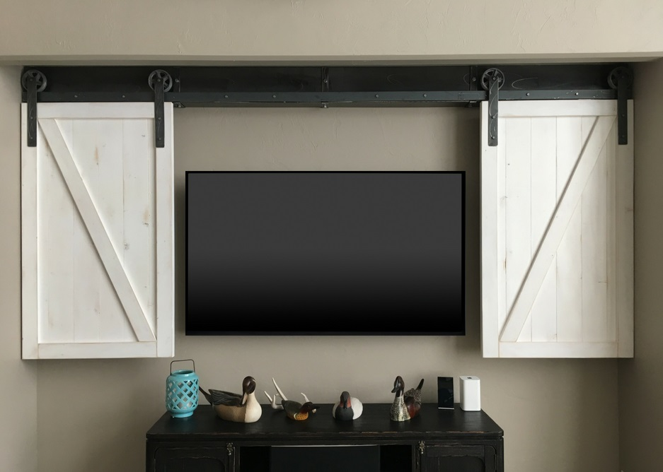 San Diego tv shutter barn door