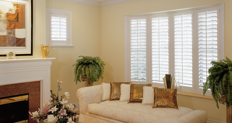 San Diego living room shutters