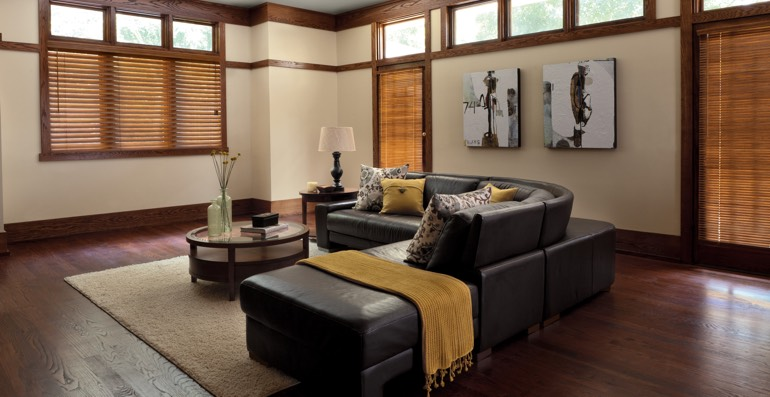 San Diego hardwood floor and blinds