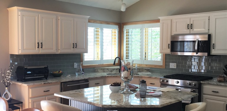 San Diego kitchen with shutters and appliances
