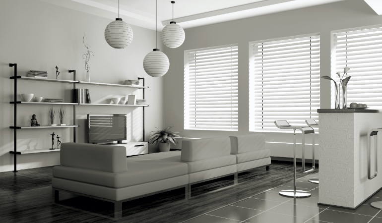 white blinds in San Diego