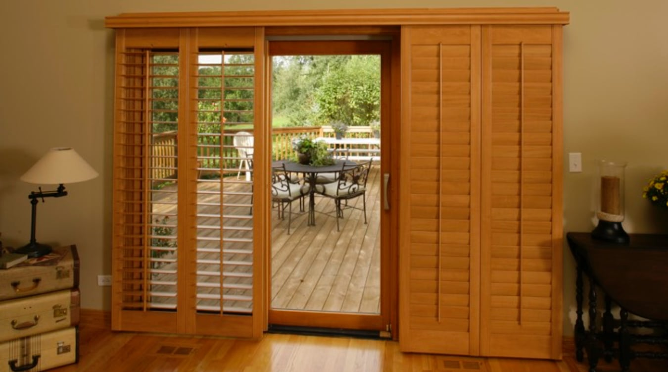 Bypass Shutters For San Diego Sliding Glass Doors
