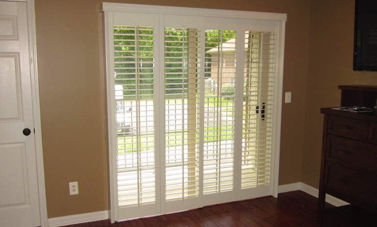 San Diego sliding door bifold shutters in den