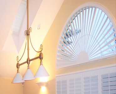 San Diego arched eyebrow window with custom shutter