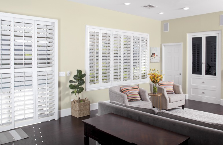 living room shutters in san diego