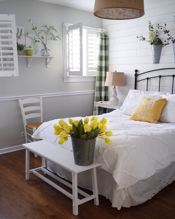 San Diego cottage bedroom shutters