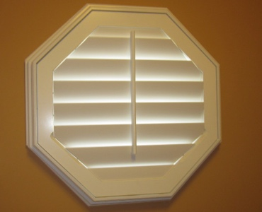 San Diego octagon window shutter