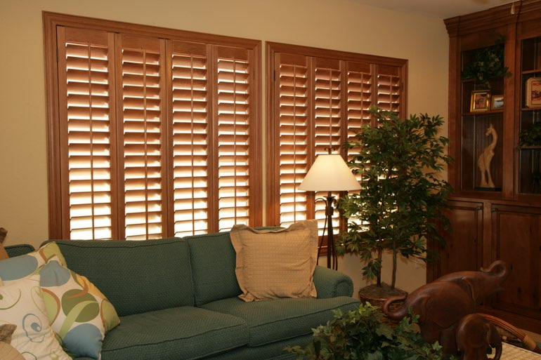 Ovation Shutters In A San Diego Living Room.