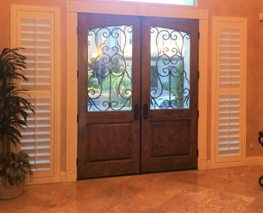 San Diego sidelight window treatment shutter
